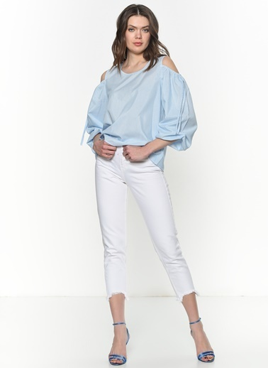 Su Moda Bluz Mavi
